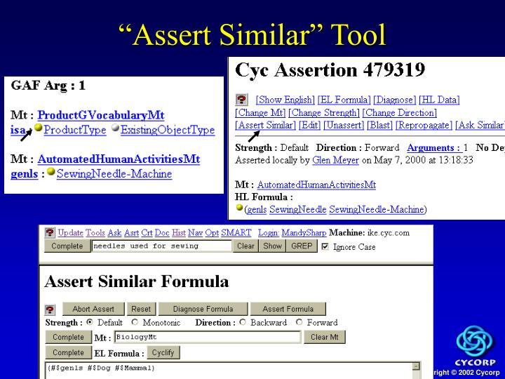 """Assert Similar"" Tool"