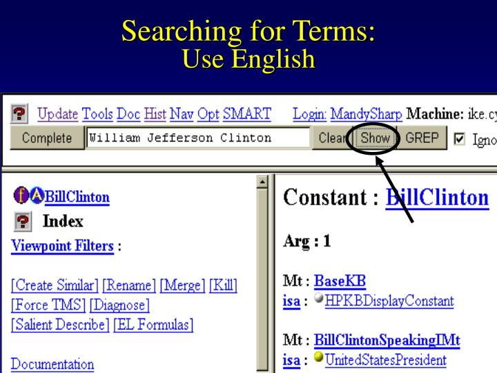 Searching for Terms: