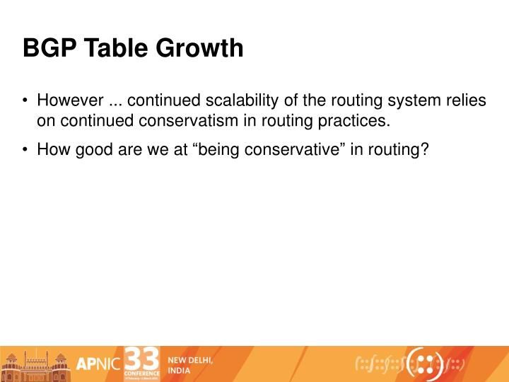 BGP Table Growth