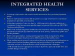 integrated health services
