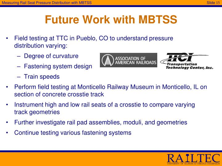 Future Work with MBTSS
