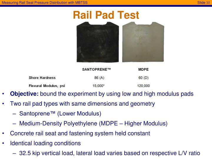 Rail Pad Test