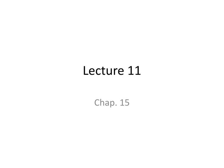 lecture 11 n.