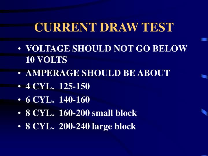 CURRENT DRAW TEST