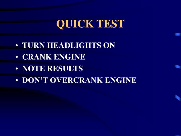 QUICK TEST
