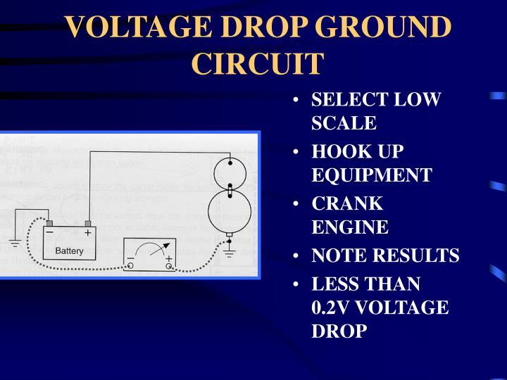 VOLTAGE DROP GROUND CIRCUIT