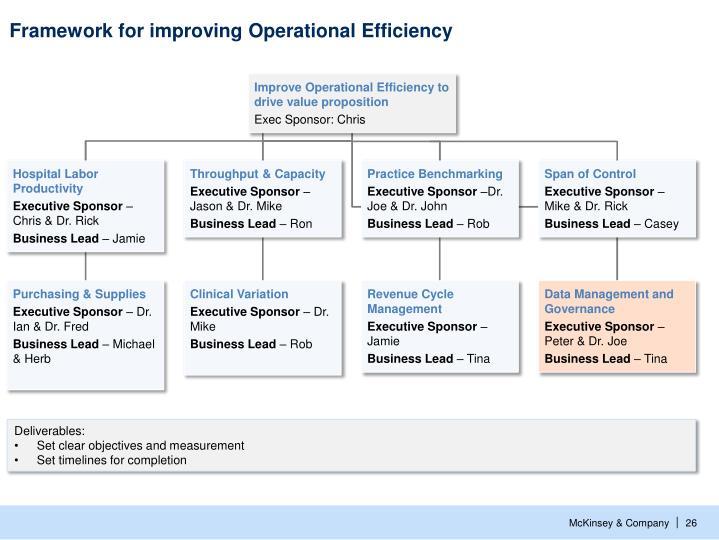 Framework for improving Operational Efficiency