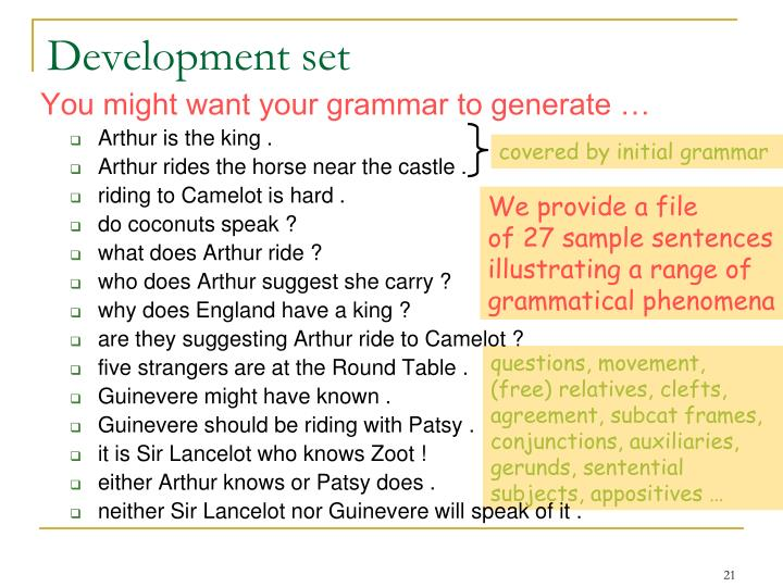 covered by initial grammar