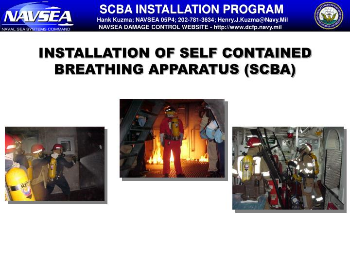 Installation of self contained breathing apparatus scba