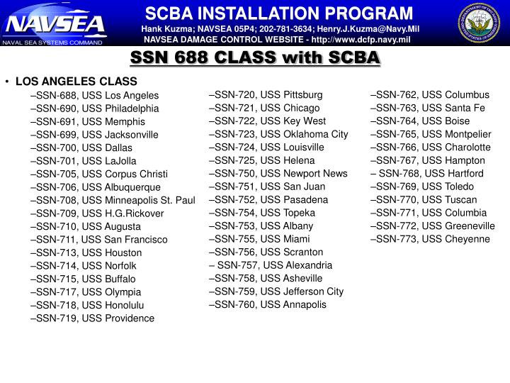SSN 688 CLASS with SCBA