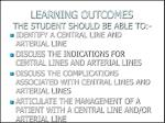 learning outcomes the student should be able to