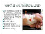 what is an arterial line