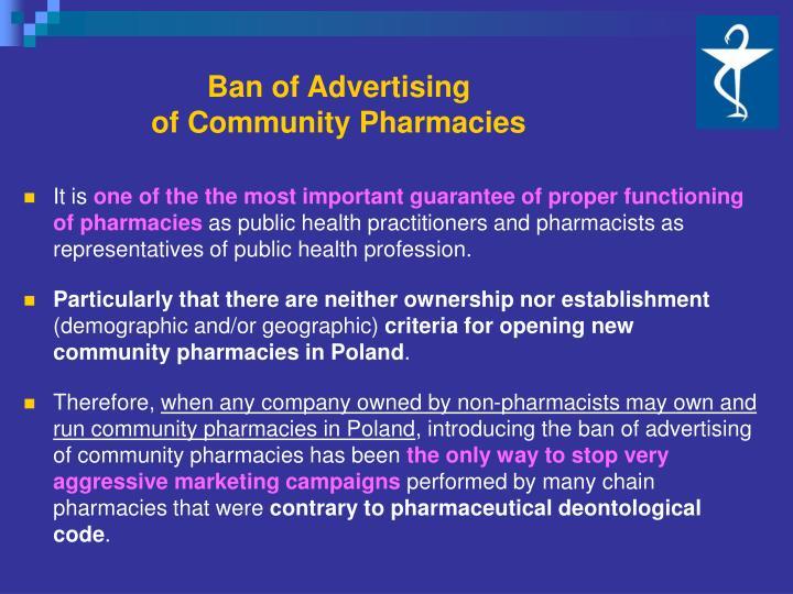 Ban of Advertising