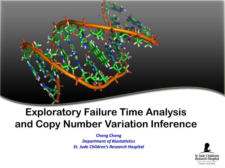 exploratory failure time analysis and copy number variation inference n.