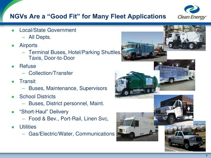 """NGVs Are a """"Good Fit"""" for Many Fleet Applications"""
