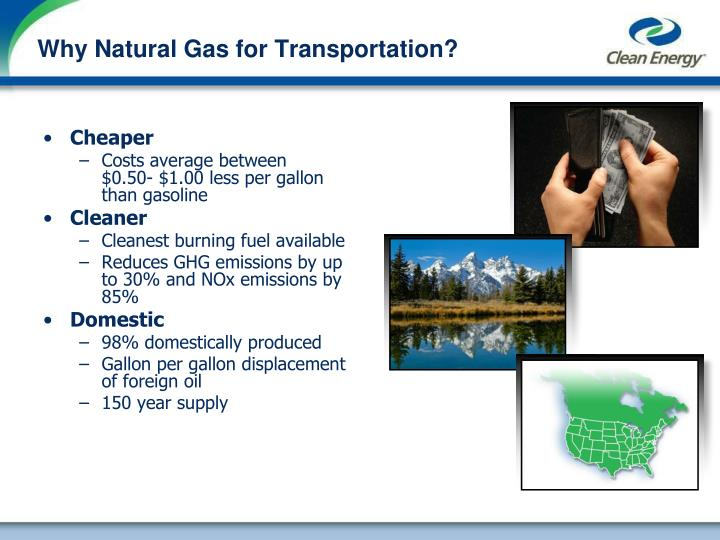 Why natural gas for transportation