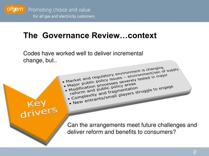 The  Governance Review…context