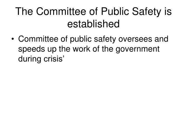 how to set up a safety committee