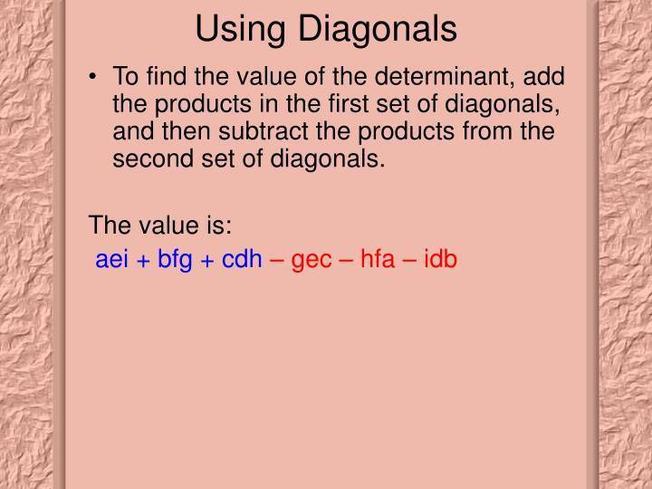 Using Diagonals