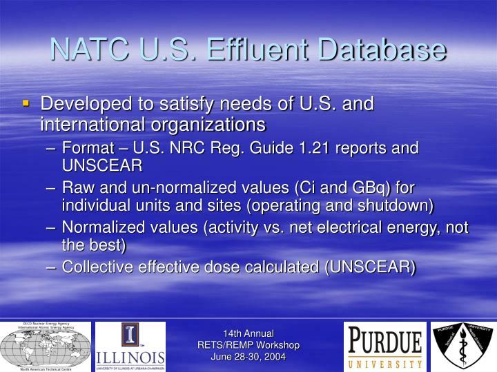 NATC U.S. Effluent Database