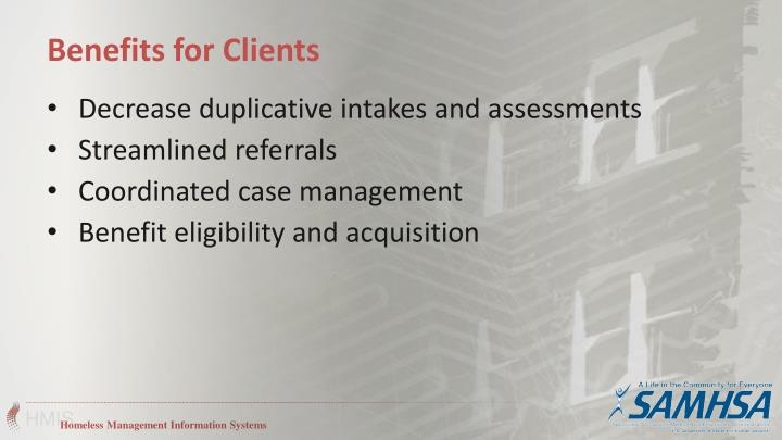 Decrease duplicative intakes and assessments