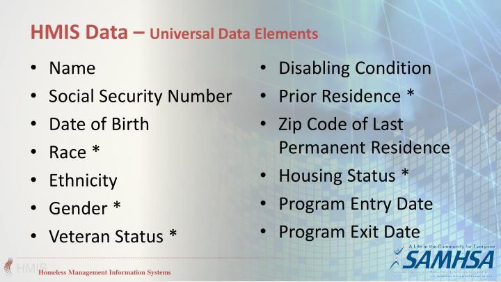 HMIS Data –