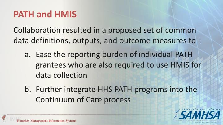 PATH and HMIS