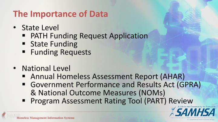 The Importance of Data