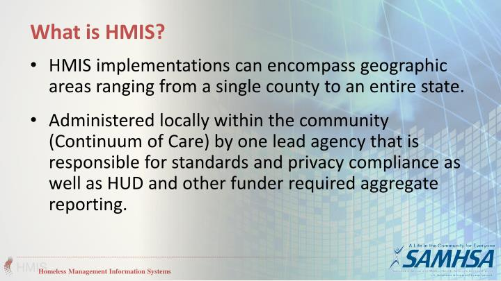 What is HMIS?