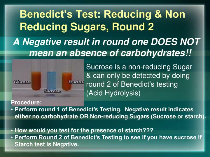 how to test for reducing sugar