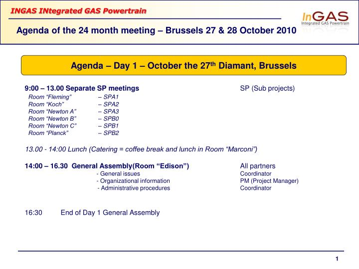 agenda of the 24 month meeting brussels 27 28 october 2010 n.