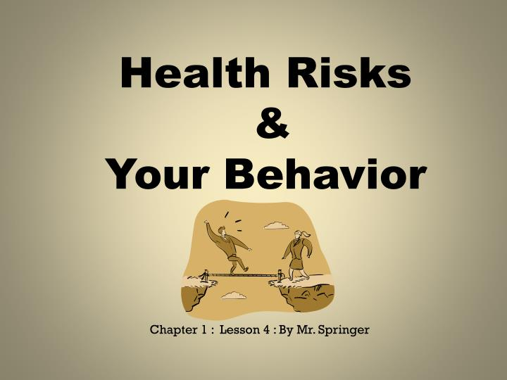 the four categories of risky behavior