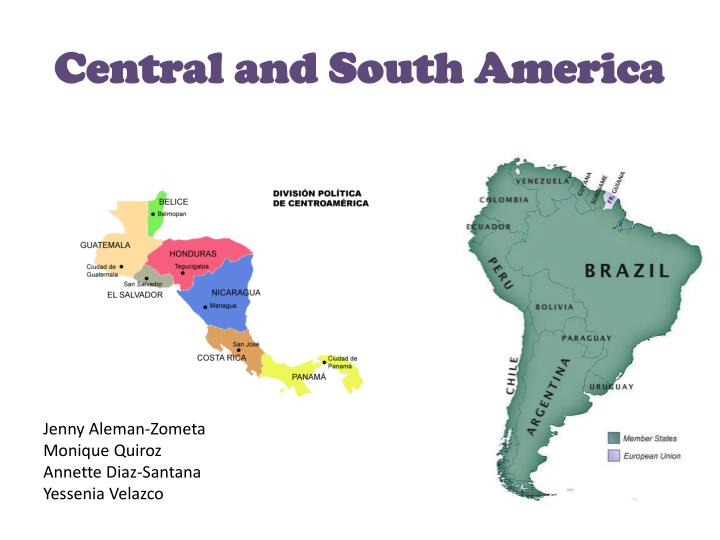 central and south america n.