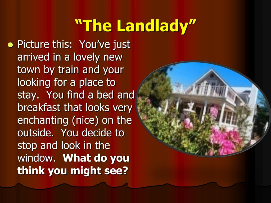 what is the climax of the landlady