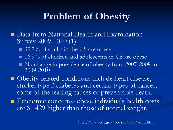 problem of obesity Introduction obesity is as much a psychological as a physical problem psychological issues can not only foreshadow the development of obesity, but they can also follow ongoing struggles to control weight.