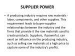 supplier power1