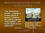 abuse of proportionality principle human shielding1