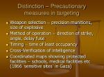 distinction precautionary measures in targeting