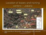 location of bases and training centers jabalia