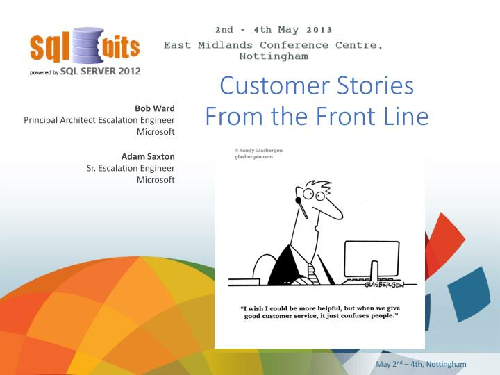 customer stories from the front line n.