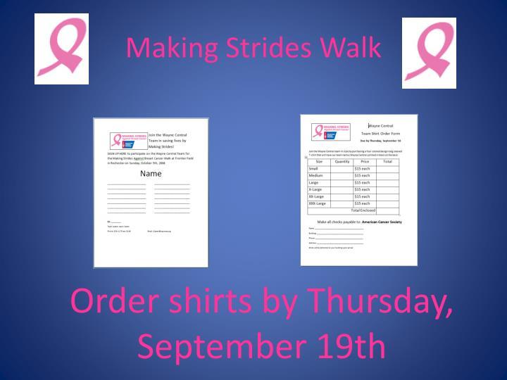 Making Strides Walk