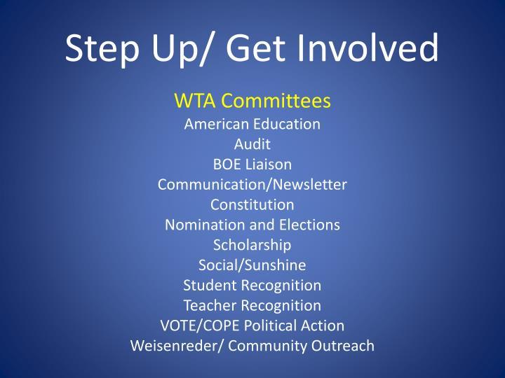 Step Up/ Get Involved
