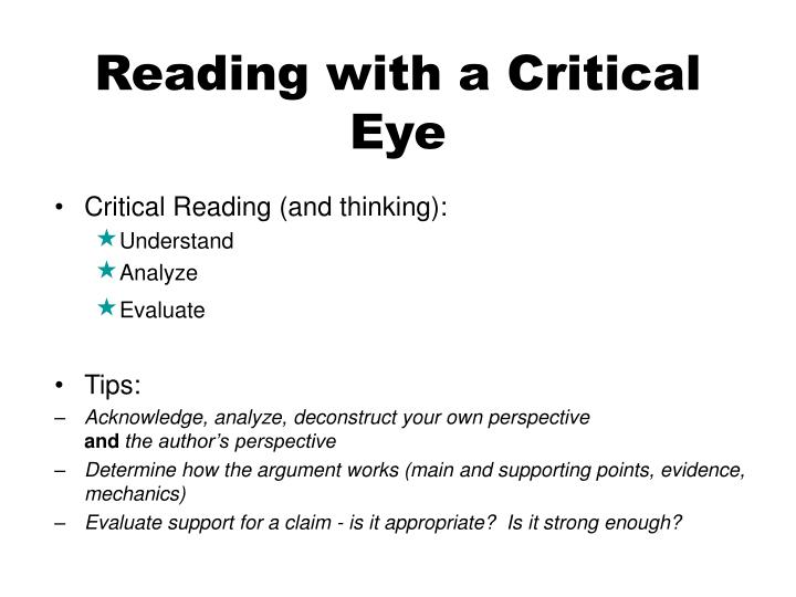 Reading with a Critical Eye