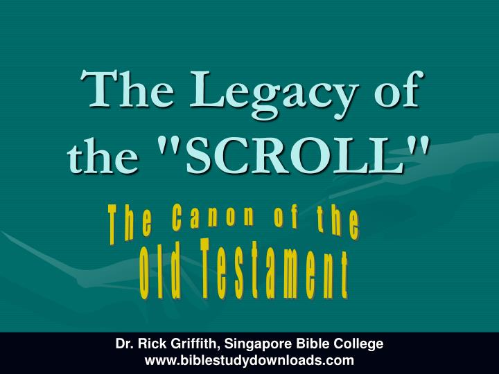 the legacy of the scroll n.