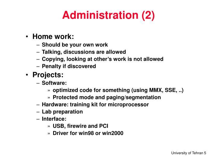 Administration (2)