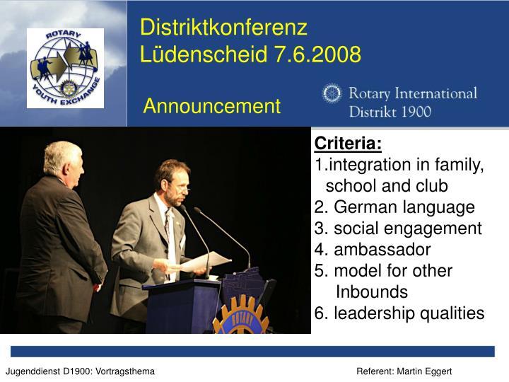 Distriktkonferenz
