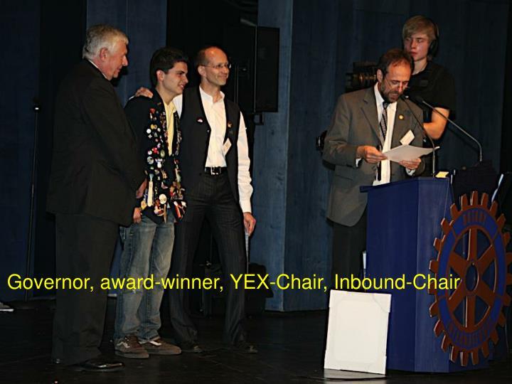 Governor, award-winner, YEX-Chair, Inbound-Chair