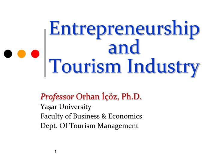 entrepreneurship and tourism industry n.