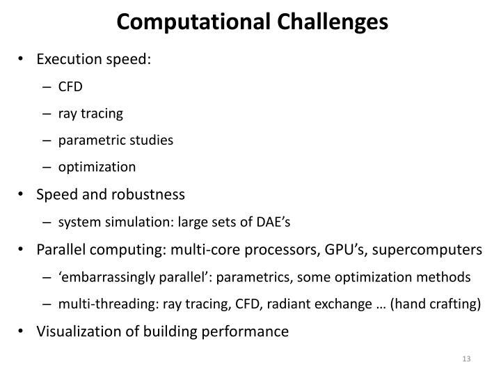 Computational Challenges