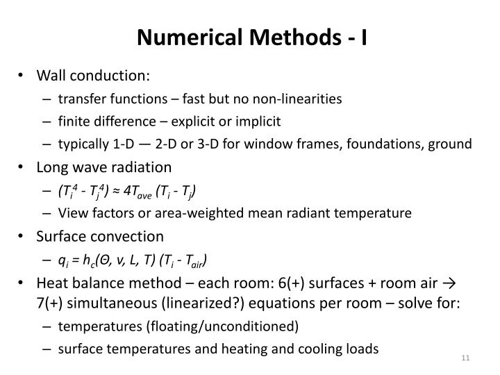 Numerical Methods - I